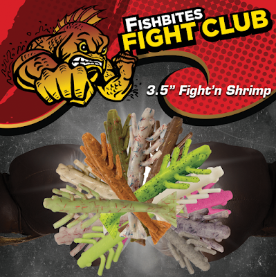 "Fish Bites Fish Club Lures 3.5"" Fight'N Shrimp"