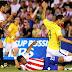 No lucro: Brasil joga mal, leva 2 a 0, mas empata no fim com gol de Dani Alves