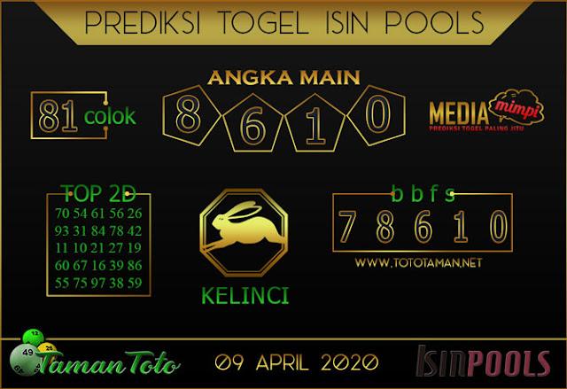 Prediksi Togel ISIN TAMAN TOTO 09 APRIL 2020