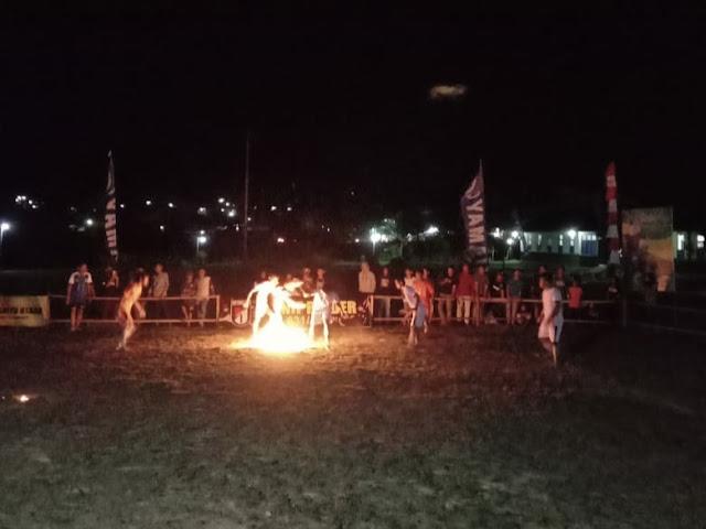 Lestarikan Budaya, Yonif R 631/Atg Gelar Sepak Bola Api