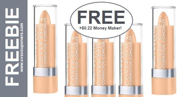 FREE Maybelline Cover Stick Concealer at CVS 6-16 6-22