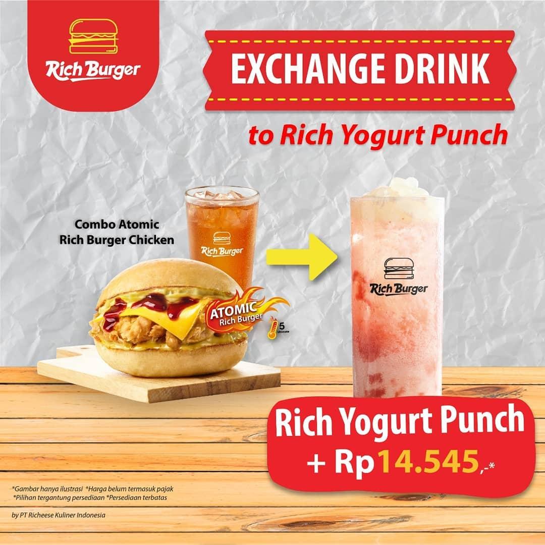 Richeese Factory Promo Rich Yogurt Punch Cuma + Rp 14.545*