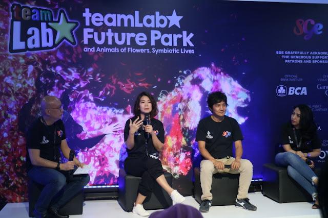 future park, teamlab,gandaria city, narada, sge live