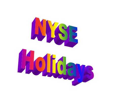 NYSE Holidays   Stock Market Holidays