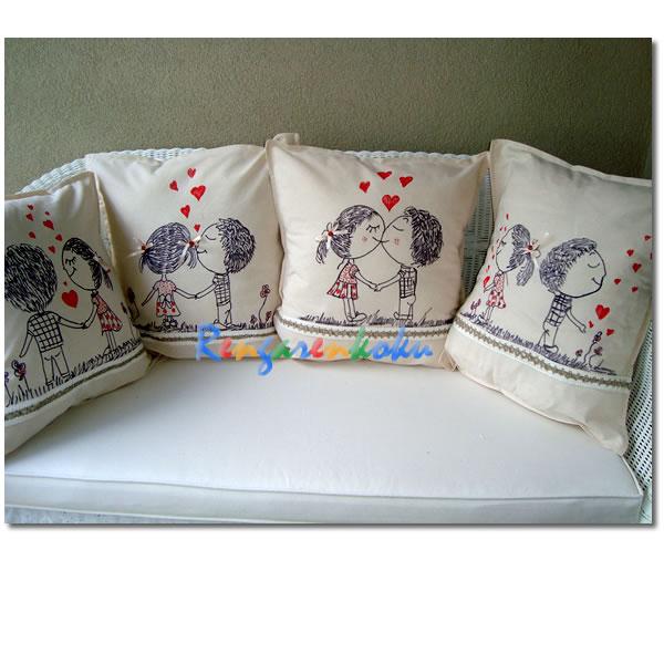 el boyaması sevgi yastıkları