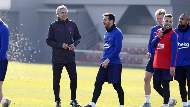 """Barca quyết vô địch cúp C1, HLV Setien có mưu lạ để Messi """"bung lụa"""""""