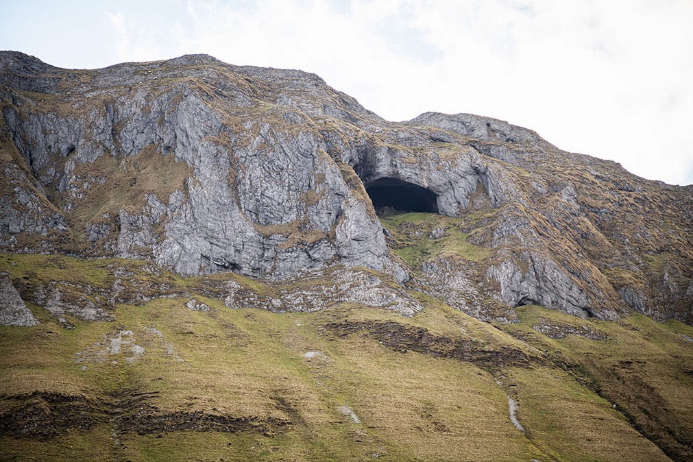 A close-up of Diarmuid and Grainne's cave
