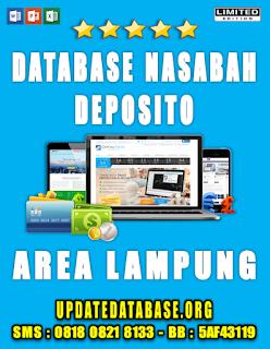 Jual Database Nasabah Deposito Lampung