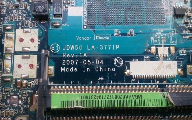 LA-3771P Rev 1A JDW50 Acer Aspire 5710 Bios