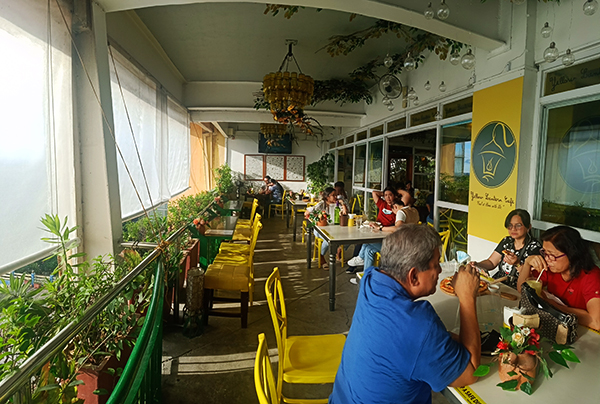 overlooking seats at Yellow lantern cafe