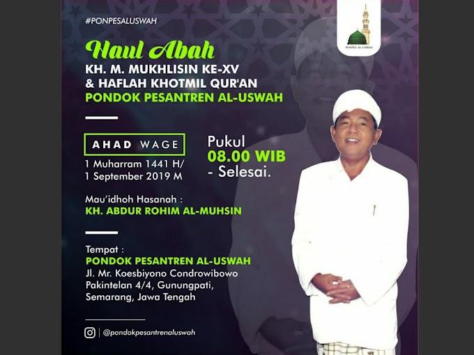 Haul KH Mukhlisin ke-XV, Pesantren Al-Uswah Gelar Haflah Khatmil Qur'an