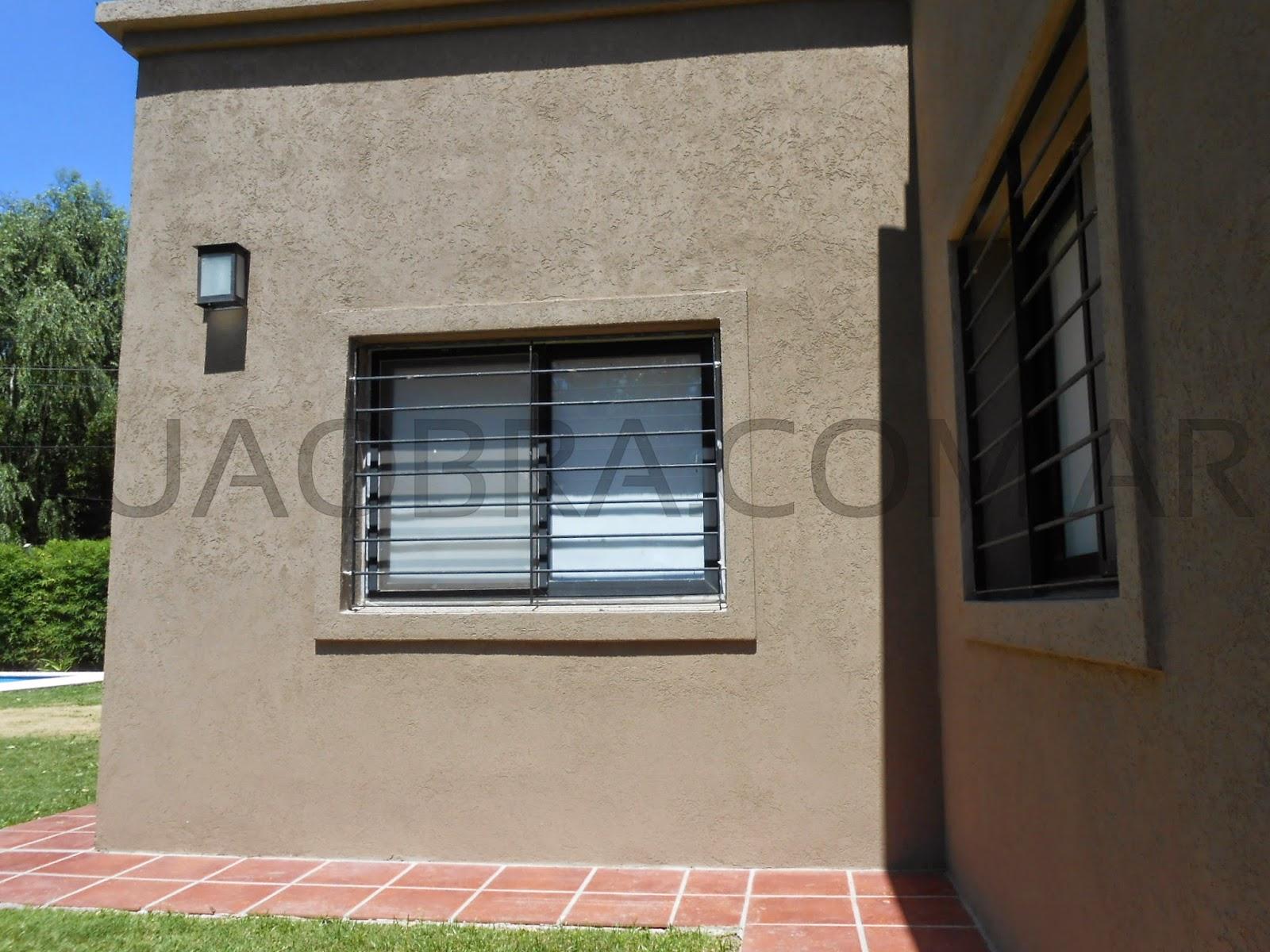 Aplicacion de revestimiento plastico para paredes exteriores tipo tarquini color zona norte - Tipos de revestimientos exteriores ...
