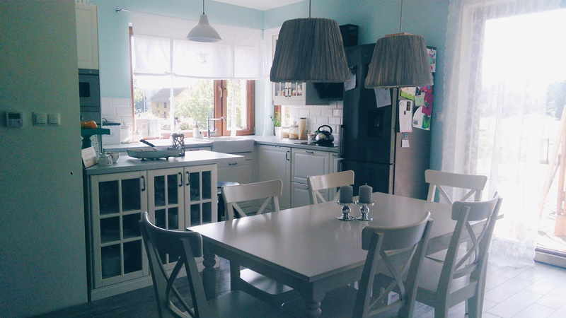 Kuchnia IKEA, jadalnia IKEA, kocham swój dom, serce domu