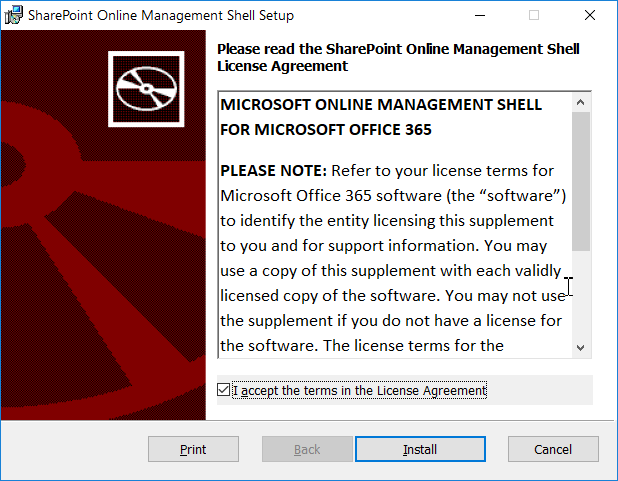 download and install sharepoint online managment shell