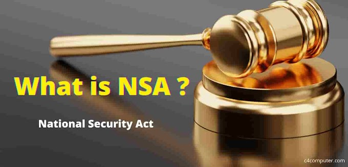 What is NSA in India: National Security Act