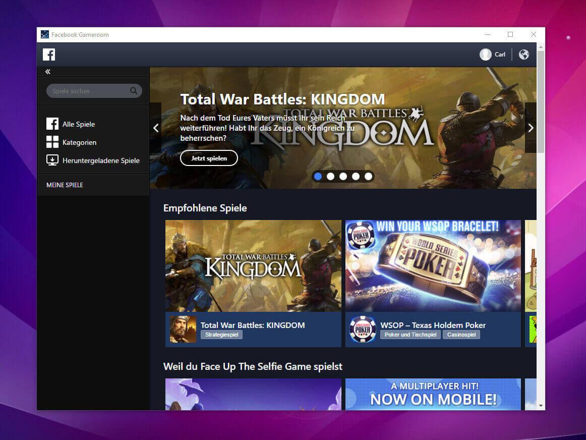 Facebook Gameroom Installieren