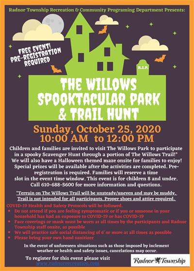 The Willows Spooktacular Park and Trail Hunt
