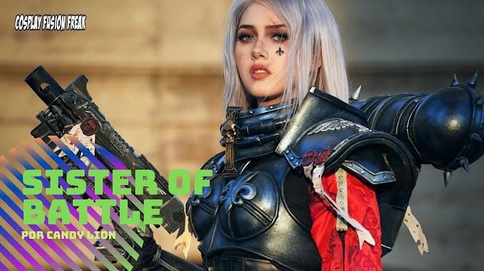 Candy Lion con su cosplay de Sister of Battle