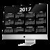 Calendários 2017 em Inglês