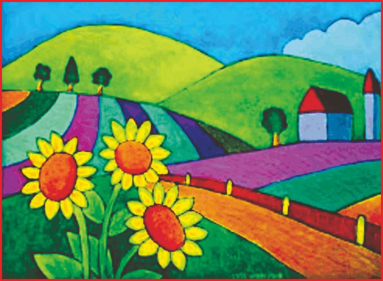 Cara Menggambar Pemandangan Alam Yang Bagus Dan Mudah Seni