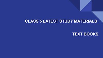 CLASS 5 STUDY MATERIALS - TAMIL NADU KALVISOLAI - 5 th STD STUDY MATERIALS