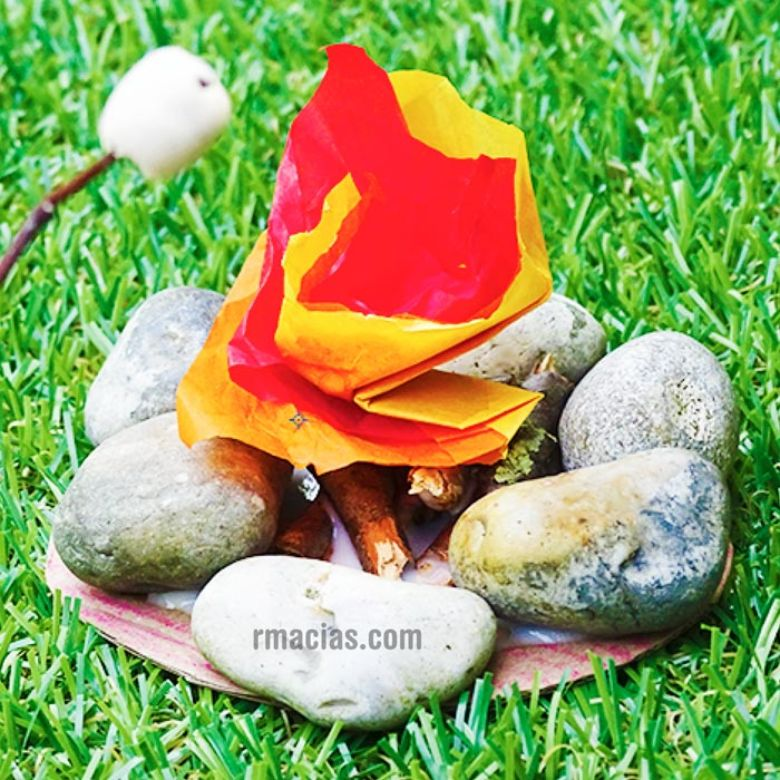 Campfire nature craft for kids