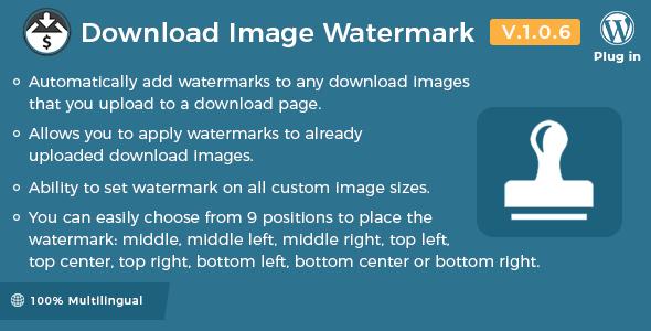 Easy Digital Downloads – Download Image Watermark v1.0.6 Nulled