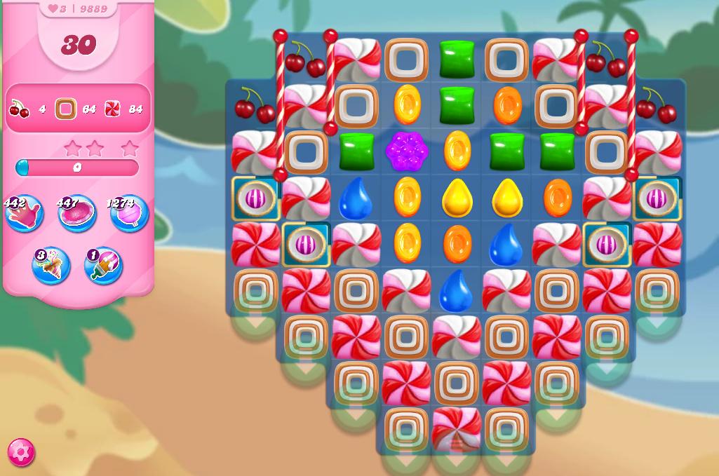 Candy Crush Saga level 9889