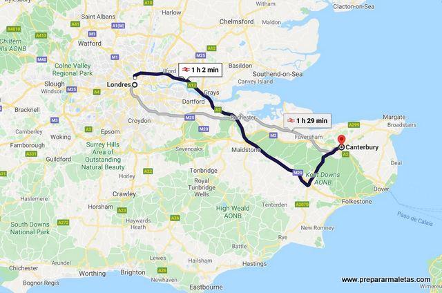 como ir a Canterbury excursión desde Londres