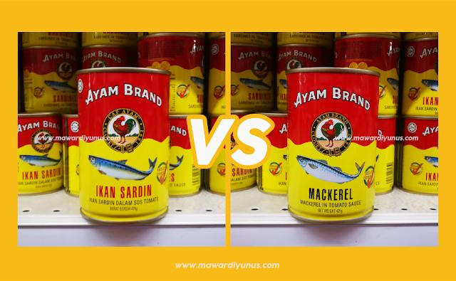 Perbezaan Ikan Sardin & Ikan Mackerel Ayam Brand