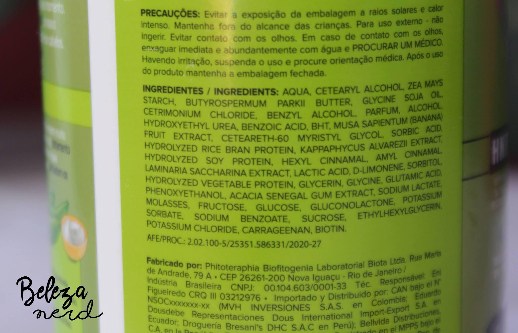 Resenha linha novex superfood biomassa de Banana e açucar