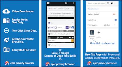 Aplikasi epic privacy browser