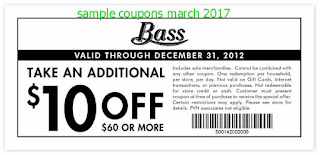 Bass coupons march 2017