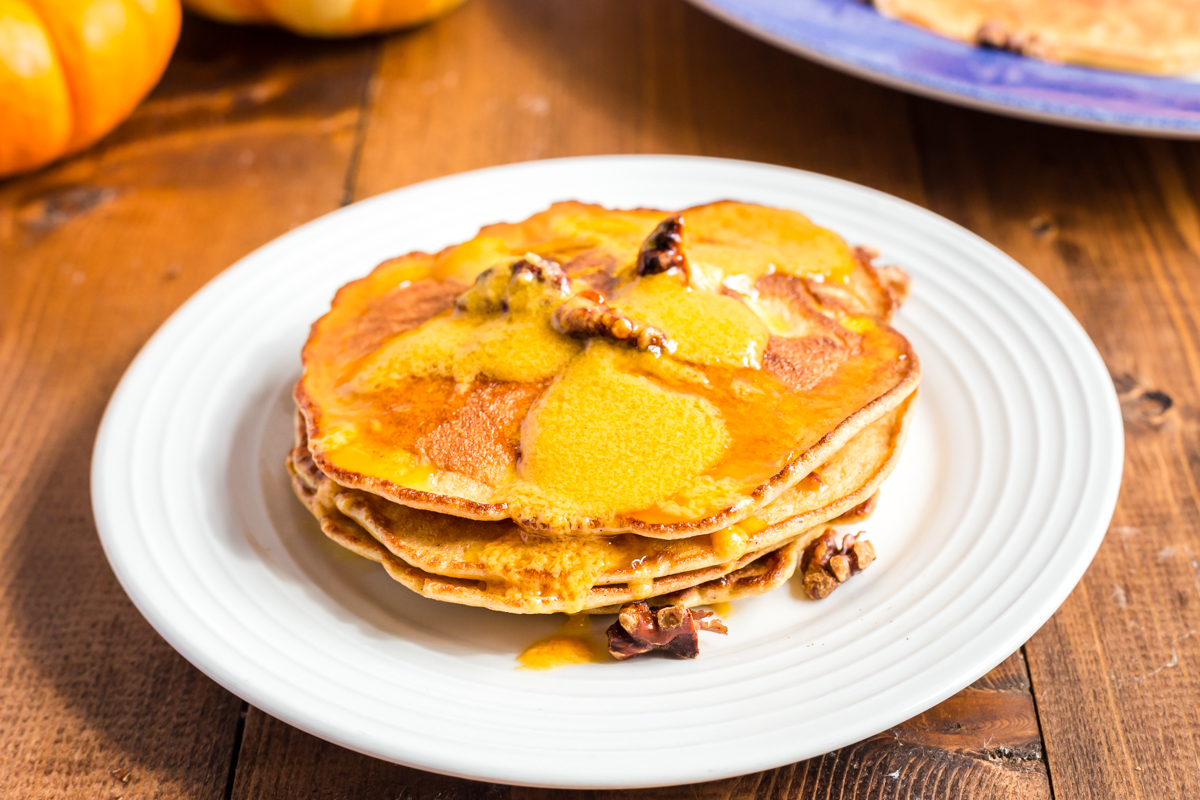 Low Carb Pumpkin Pancakes with Pumpkin Butter