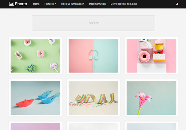 Phorto mobile friendly blogger template