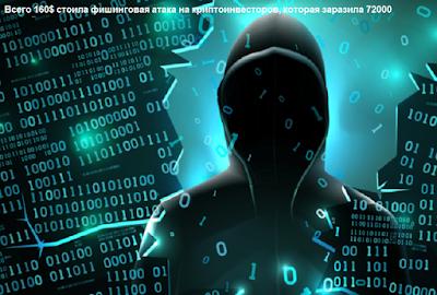 Всего 160$ стоила фишинговая атака на криптоинвесторов, которая заразила 72000 устройств