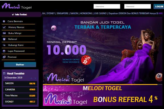 Meloditgl.club Situs Judi Togel Terpercaya Bonus Referral Seumur Hidup