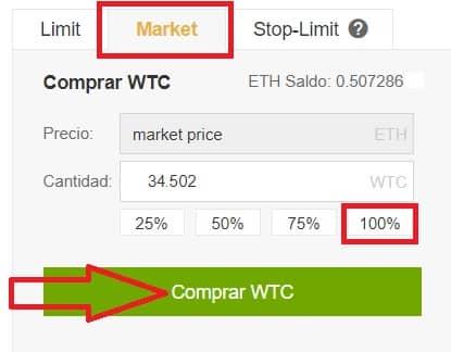 comprar monedas Walton WTC