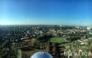 Panorama sur Bruxelles depuis l'Atomium