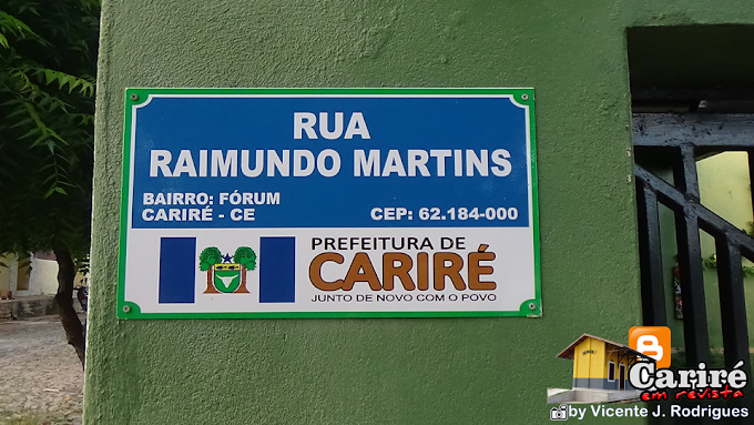 Prefeitura instala novas placas de identificação em ruas e avenidas do município de Cariré-CE