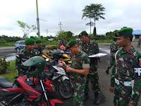 Dandim 0910/Malinau Cek Kelengkapan Surat-surat Kendaraan Anggotanya