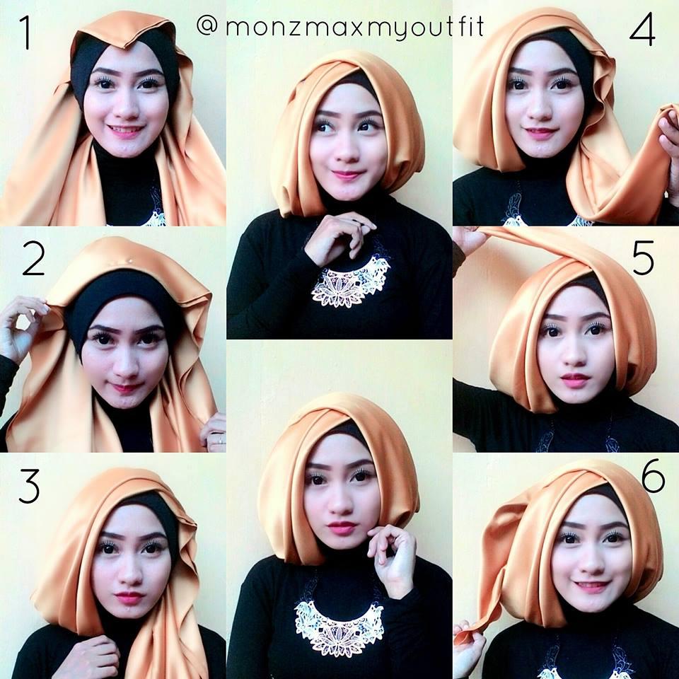 21 Gambar Menarik Tutorial Hijab Segi Empat Velvet Gratis Tutorial