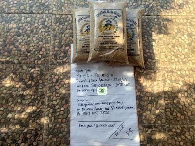 Tambahan Benih padi yang dibeli    EUIS SUTARSIH Sukoharjo, Jateng.   (Sebelum di Packing).