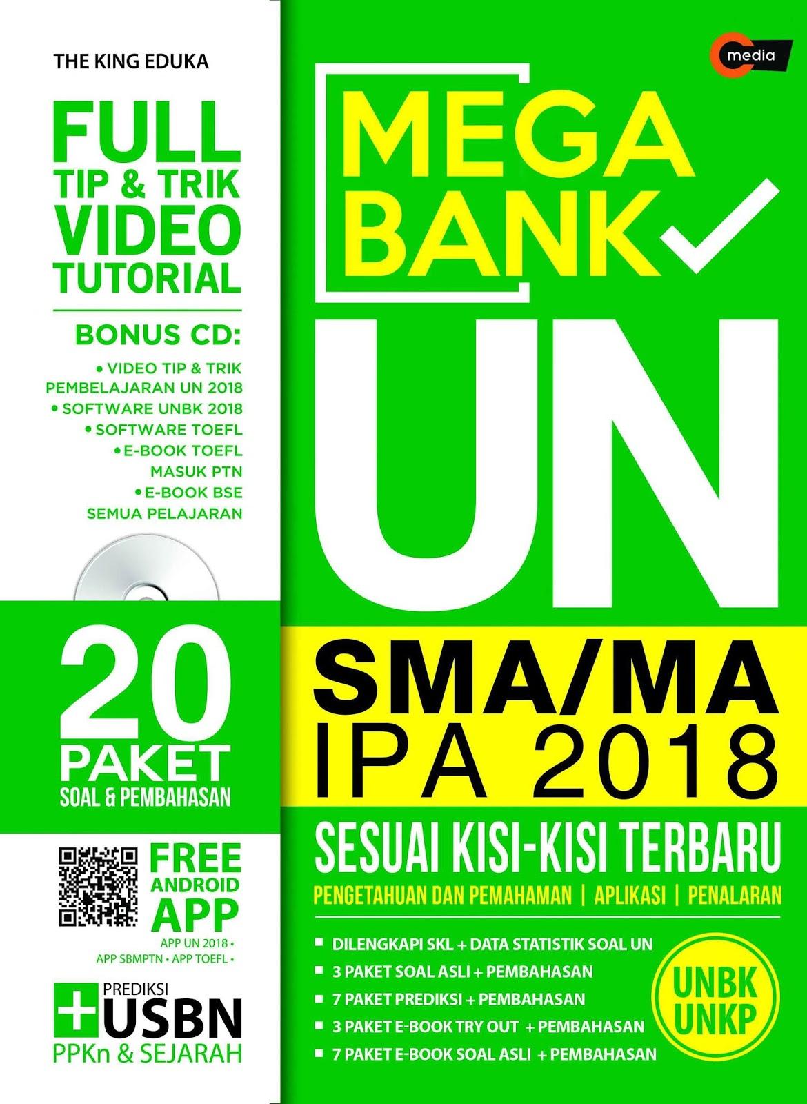 Download Mega Bank UN SMA/MA IPA 2018 (Sesuai Kisi-Kisi Terbaru)
