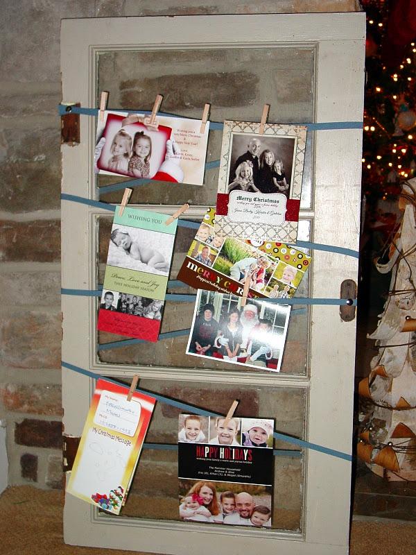 Using an old window as a Christmas card display - Rachel Teodoro