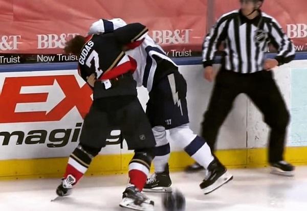 coleman gudas fight nhl hockey