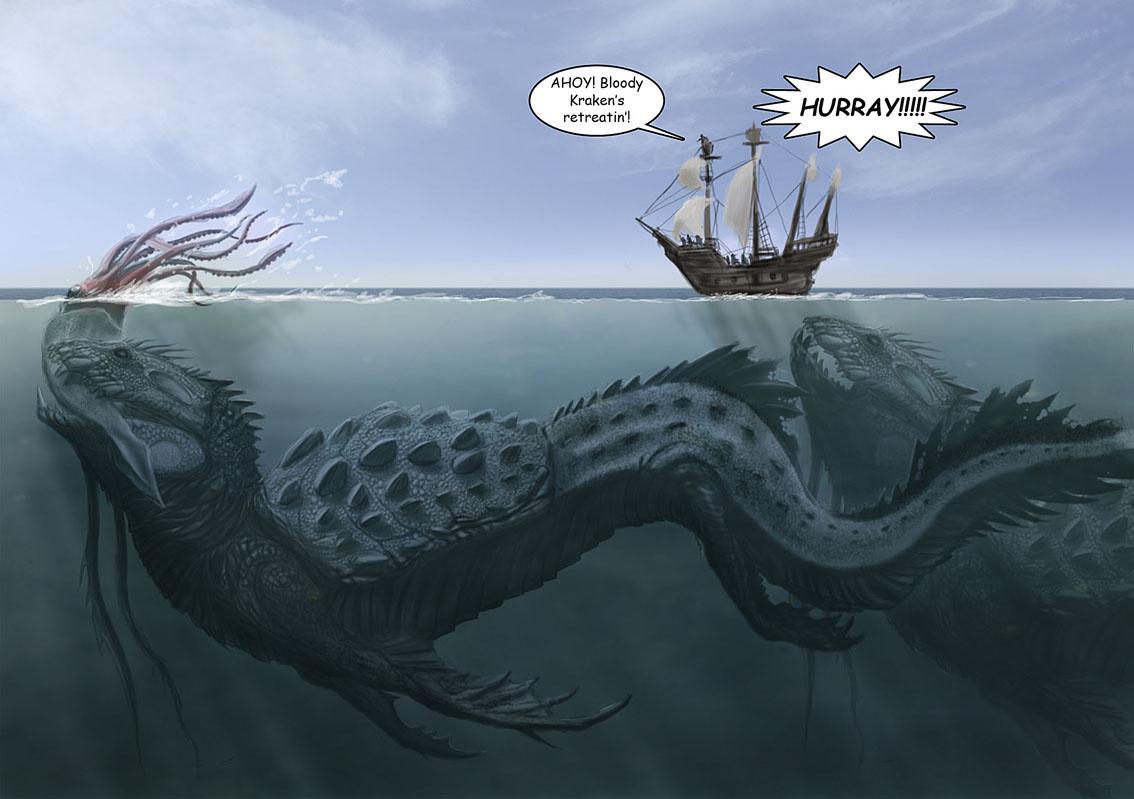 Kraken Sea Monster Leviathan