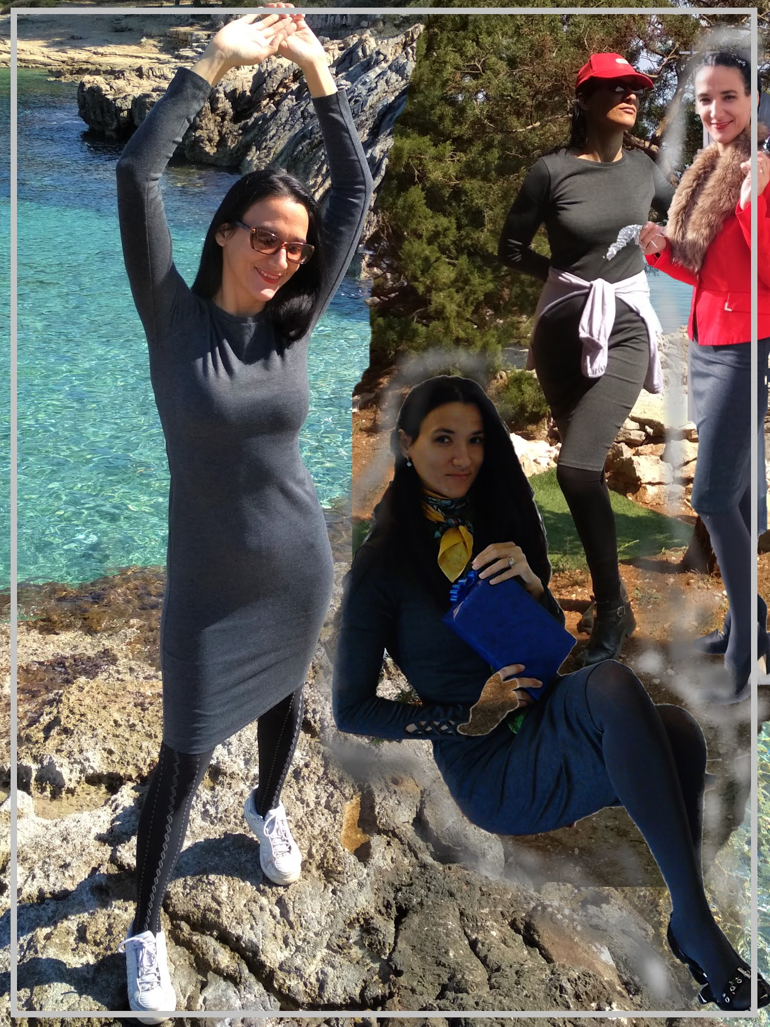 #modaodaradosti fashion and lifestyle blog A NEUTRAL GREY DRESS FOR A VISIT TO STARI GRAD
