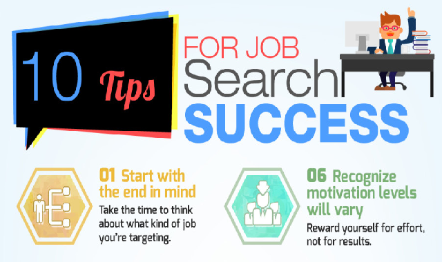 10 Tips for Job Search Success #infographic