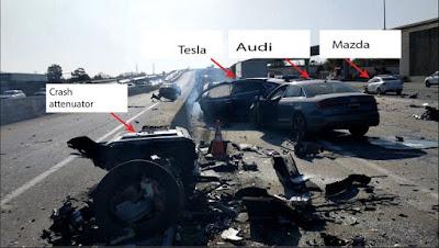 Kecelakaan Tesla Model X milik Huang